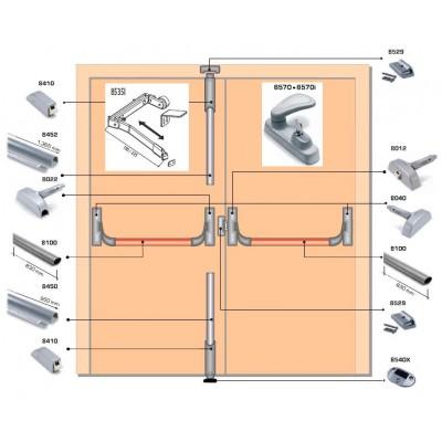 Система антипаника Fapim Panama с тремя точками запирания для двустворчатых дверей купить по низкой цене в городе Уфа