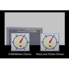 Преимущества технологии Cam Motion, в отличии от обычного доводчика