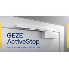 Монтаж доводчика-стопора GEZE ActiveStop на цельностеклянную дверь